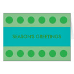 gREEN DOTS Greeting Cards