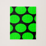 Green Dots Jigsaw Puzzle