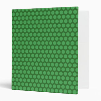 Green Dots on Green Vinyl Binders