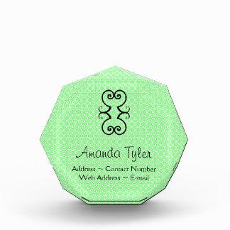 Green Dots Pattern Acrylic Award