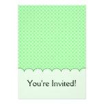 Green Dots Pattern Custom Invites