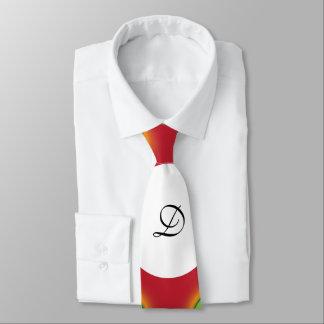 Green dots pattern monogram design stylish tie