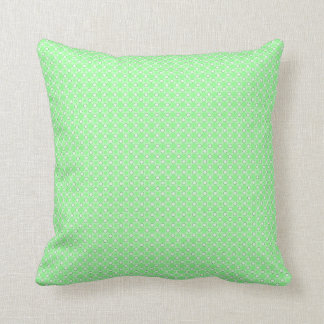 Green Dots Pattern Pillow