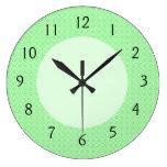 Green Dots Pattern Wall Clocks