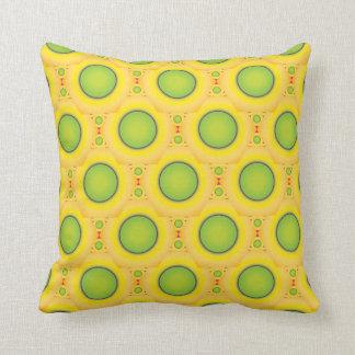 Green dots pillow
