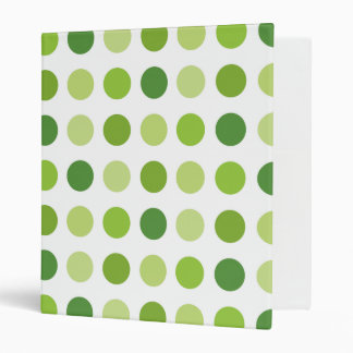 Green Dotted 3 Ring Binders