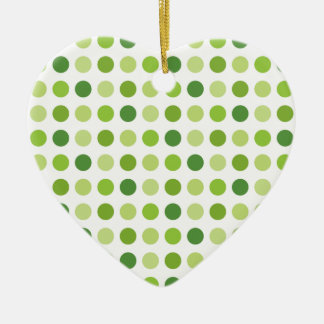 Green Dotted Ceramic Heart Ornament