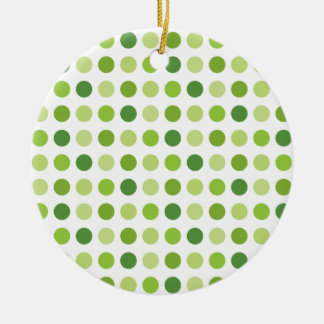 Green Dotted Round Ceramic Ornament