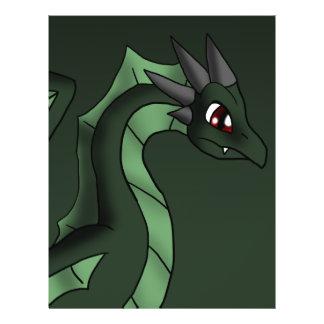 "Green Dragon 6-7-13 Fantasy Cartoon Art 8.5"" X 11"" Flyer"