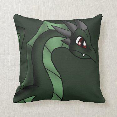 Green Dragon 6-7-13 Throw Pillows