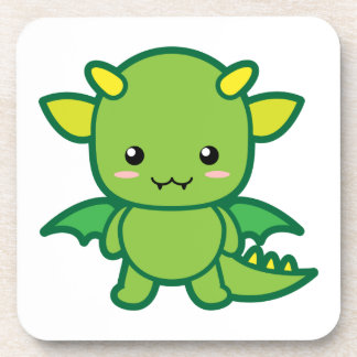 Green Dragon Beverage Coaster