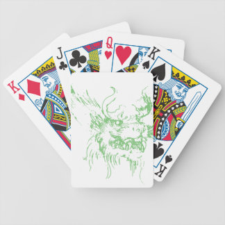 Green Dragon Bicycle Playing Cards