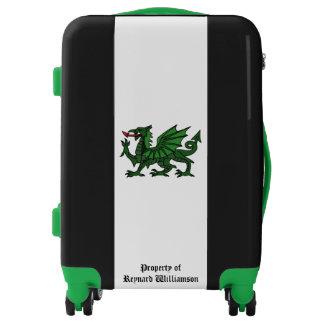 Green Dragon Black Personalized Luggage