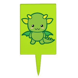 Green Dragon Cake Topper