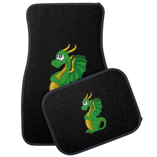 Green Dragon Cartoon Car Mat Zazzle