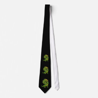 Green dragon cartoon Tie
