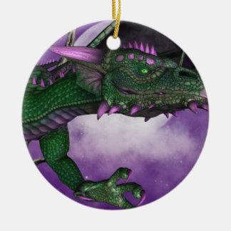 Green Dragon Ceramic Ornament