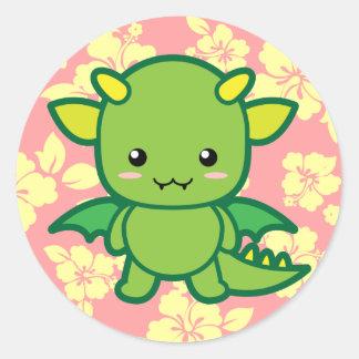 Green Dragon Classic Round Sticker
