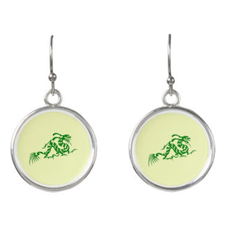Green Dragon Earrings