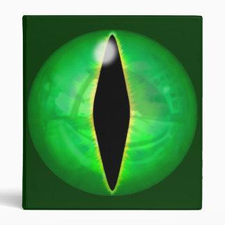 Green Dragon Eye 3 Ring Binder