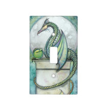 Green Dragon Fantasy Art Illustration Light Switch Cover