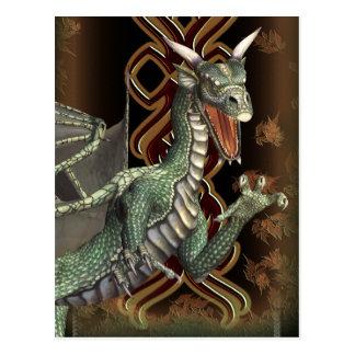 Green Dragon Fantasy Art Postcard