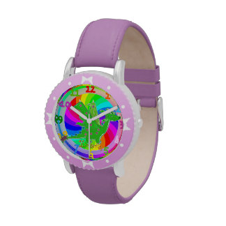 Green Dragon Kids Watch customizable Name Kimberly