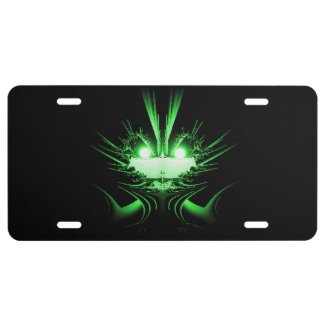 Green Dragon License Plate