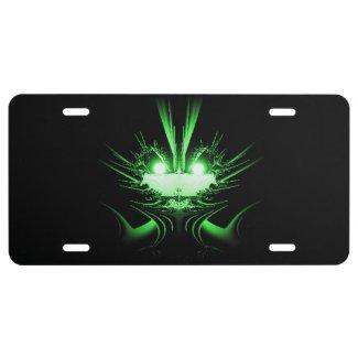 Green Dragon License Plate