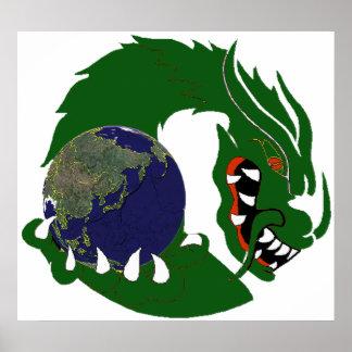 Green Dragon LIGHT Poster
