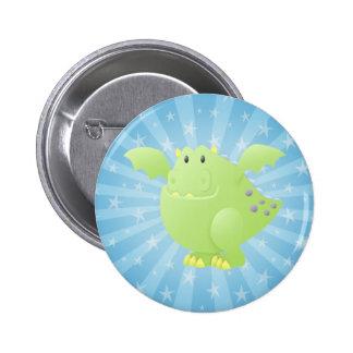 Green Dragon Monster Pin