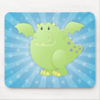 Green Dragon Monster Mouse Pads