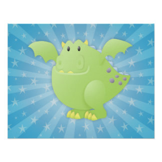 Green Dragon Monster Posters