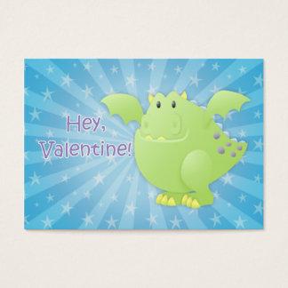 Green Dragon Monster Valentine Cards