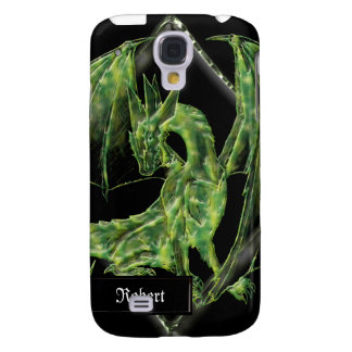 Green Dragon on Diamond Graphic iPhone3G Cover Galaxy S4 Covers
