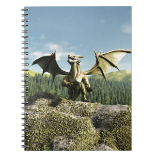 Green Dragon Perched on a Rock Notebooks
