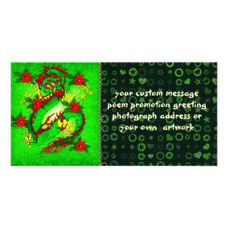 Green Dragon Photo Greeting Card