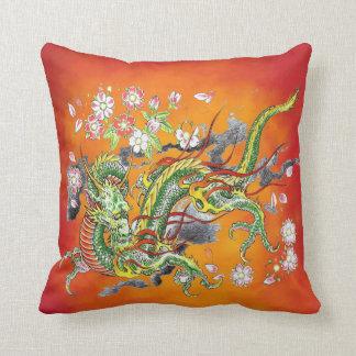 Green Dragon Pillow