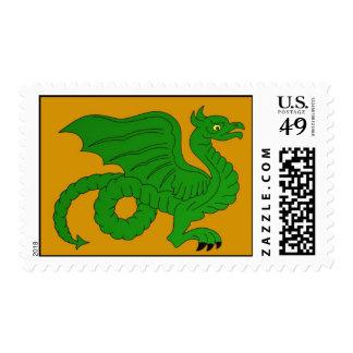Green Dragon Postage Stamp