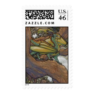 Green dragon postage stamps stamp