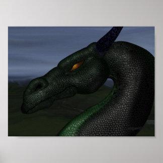 green-dragon poster