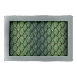 Green Dragon Scales Rectangular Belt Buckles