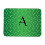 Green dragon scales monogram magnet