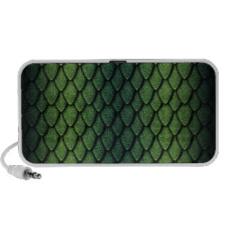 Green Dragon Scales iPod Speakers