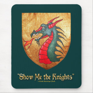 Green Dragon Shield Mouse Pad