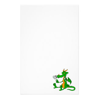 Green Dragon Sitting Stationery