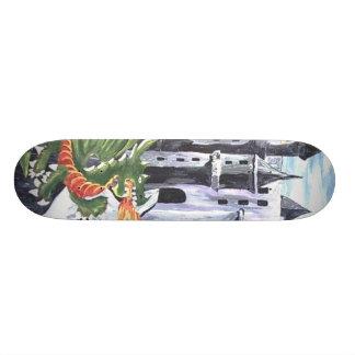 green dragon skateboard deck
