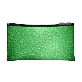 Green dragon skin, looks like dinosaur leather! makeup bag