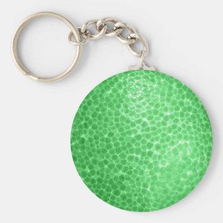 Green dragon skin, looks like dinosaur leather! keychain