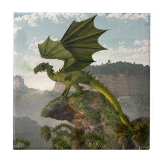 Green Dragon Ceramic Tile